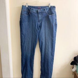 NYDJ Slim straight medium wash jeans size 14